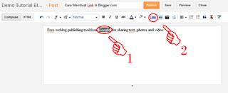 Post,post editor,area postingan,blogger post