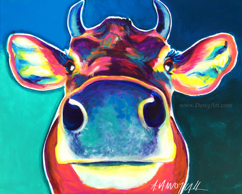 Dawgart Fawn The Cow Art Auction Fundraiser For Woodstock Farm