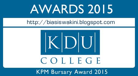 KPM Bursary Awards 2015 - KDU College Penang