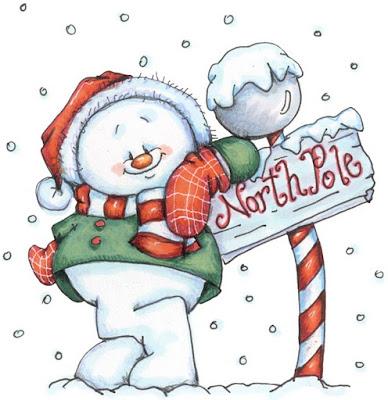 Desenho de boneco de neve colorido - natal