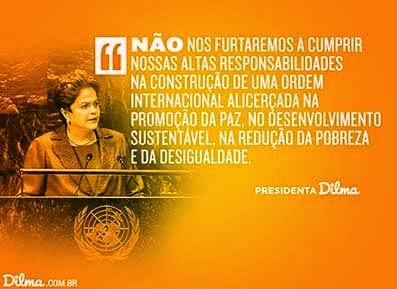 Dilma defende na ONU um mundo de paz