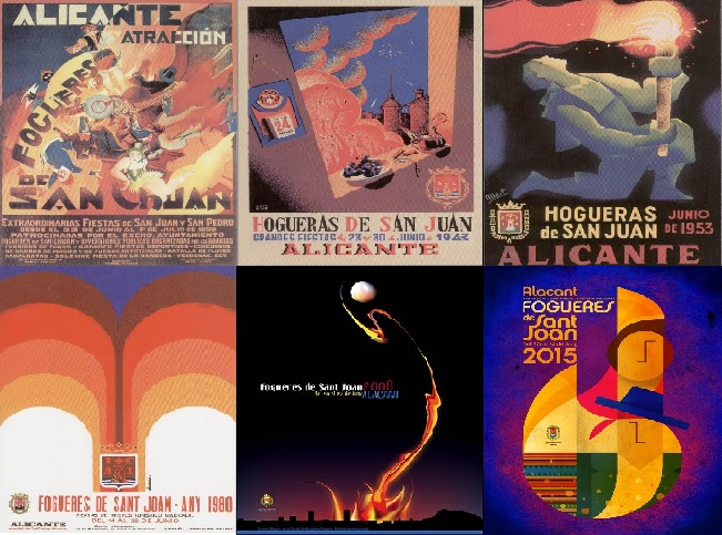 Carteles Hogueras: 1928-2019