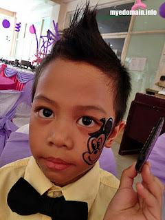 MyeDomain's  A Bunch of KIKO's First Times at MICA's 7th Birthday Party / His first time to wear a semi-formal attire  with face paint and mohawk hairstyle