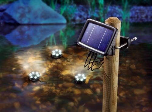 Jard n solar focos solares subacu ticos de leds - Luces solares jardin ...