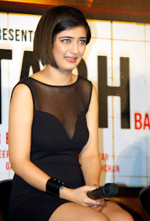 Actress Akshara Haasan Latest  Pictures in Short Dress at Shamitabh Hindi Movie Trailer Launch  13