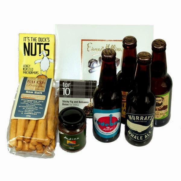 Sel;ection of gouormet foodie products for a mens beer hamper in Newcastle