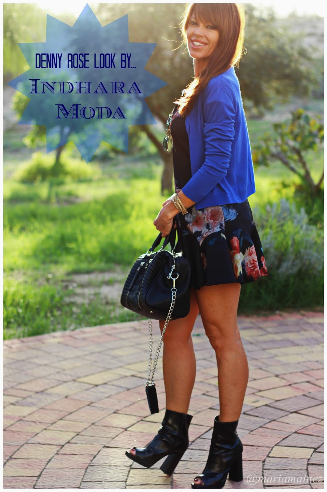 Denny Rose Dress- Botines zara - Outfit 2014 - Pepe Moll bolsos - blue color