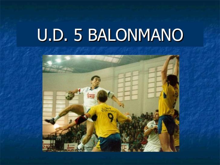 PRESENTACION DE BALONMANO