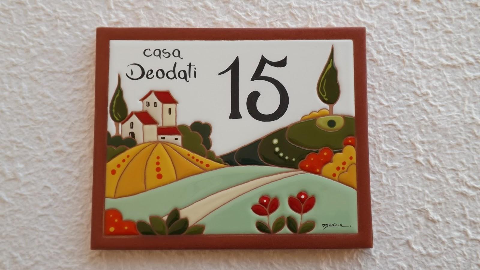 Ceramica come mestiere targa numero civico paesaggio for Ceramica in casa