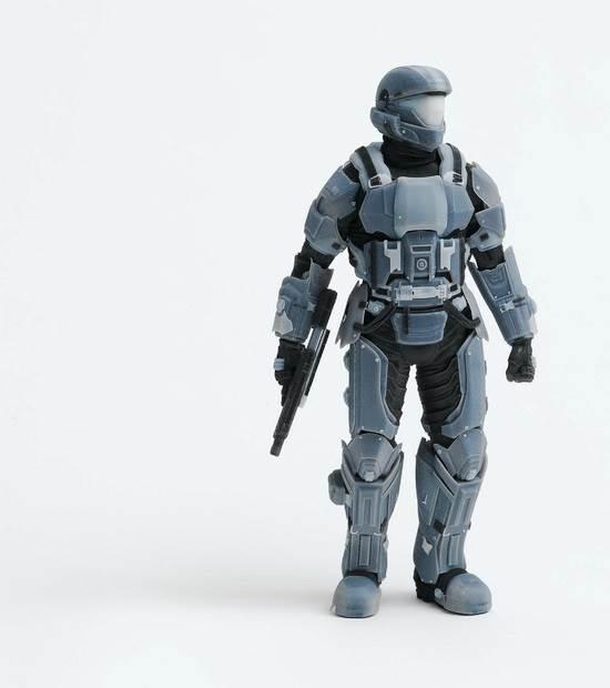 Figura de ação de Halo feita numa Impressora 3D