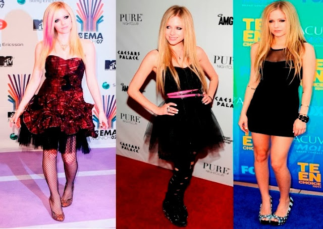 estilo look Avril Lavigne