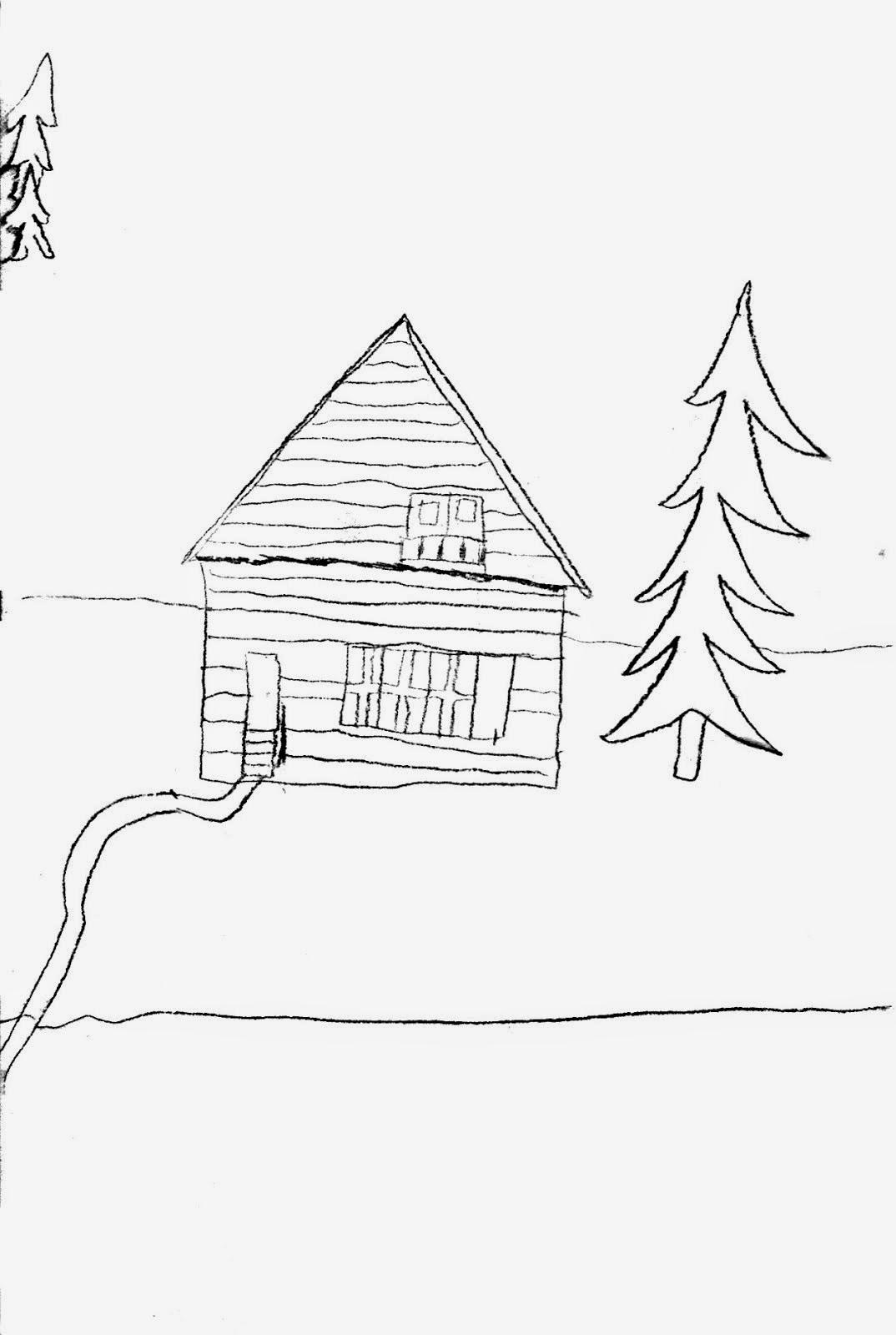 """""""Acasă la Noica"""" desen de Timotei, 2012"""