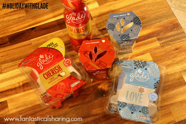 Glade® Limited Edition Winter Collection | CHERISH THE PRESENT™ Apple Cinnamon and SEND A LITTLE LOVE™ Vanilla Biscotti™ #HolidayWithGlade #ad
