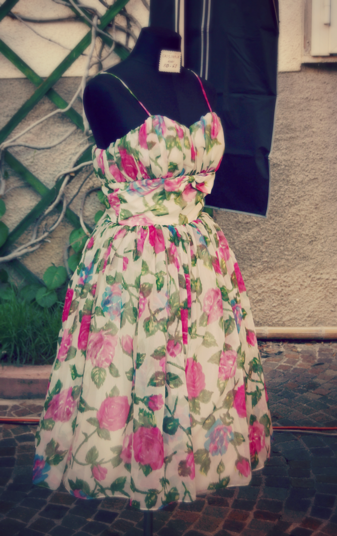 sacile vintage abito a fiori