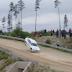 BMW M3 big jump near missed crash in rally