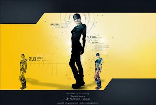 digitl art, futuristic scene, android, cyborg