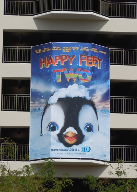 Happy Feet Two teaser movie billboard