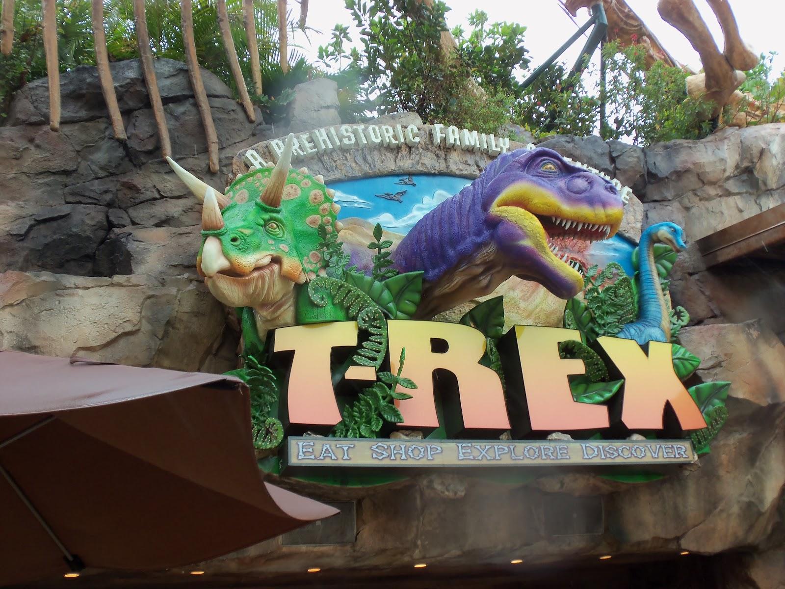 The walt disney world restaurant tour t rex for Disney dining reservations t rex
