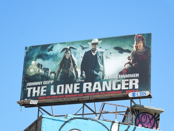 Daily Billboard: The Lone Ranger movie billboards... Advertising for ...