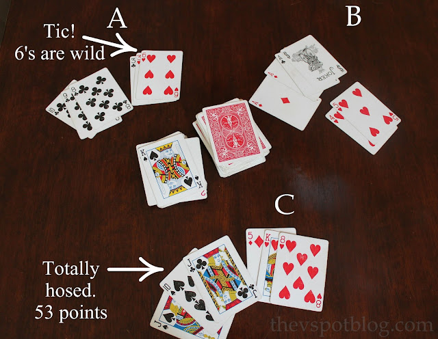 How to play the card game Tic. Good camping game.