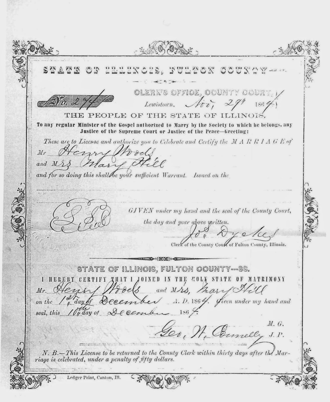 Ancestorpuzzles may 2015 1864 12 01 hedge mary marriage to henry woods aiddatafo Gallery