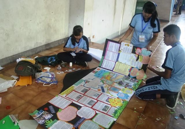 Pesan Siaga Bencana di Mading Sekolah