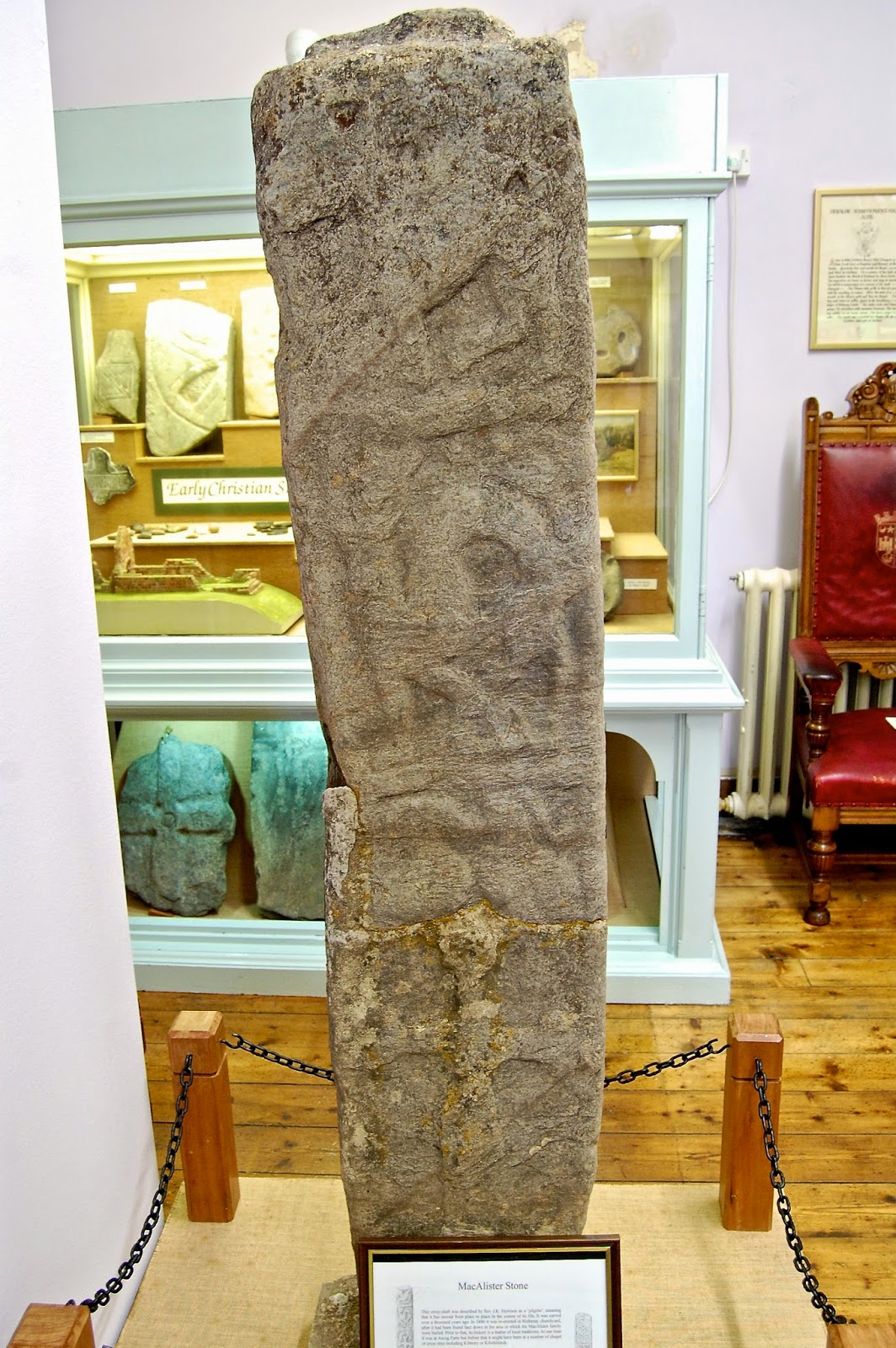 MacAlister stone, the carved shaft of a Celtic cross