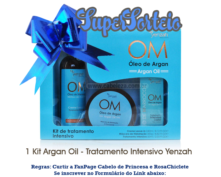 Sorteio de 1 Kit de Argan Oil Yenzah