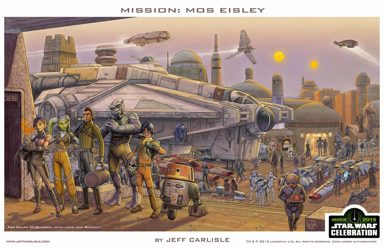 Dark Ink Art's Star Wars Celebration 2015 Exclusive Prints - Mission: Mos Eisley by Jeff Carlisle