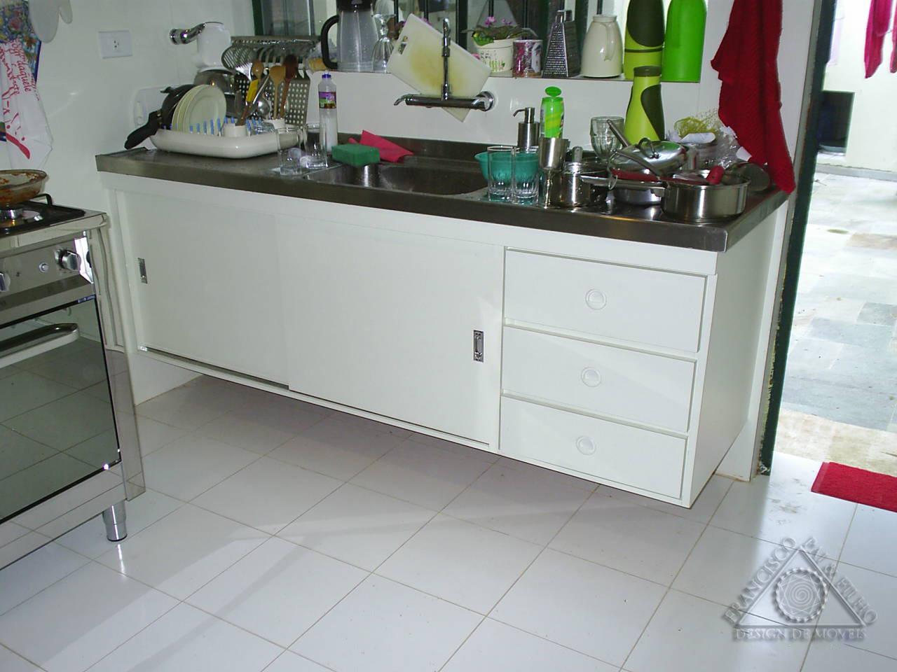 Pai & Filho: Gabinete de Cozinha com Portas de Correr (Com Croqui #711F2C 1280 960
