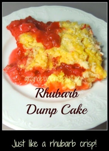 Rhubarb Dump Cake @ GrandParents Plus