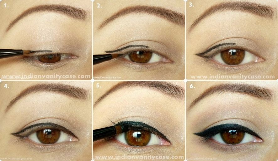 how to make cat eyes with eyeliner