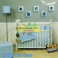 Sprei Anak Baby Crib Lullaby Blue Room Biru