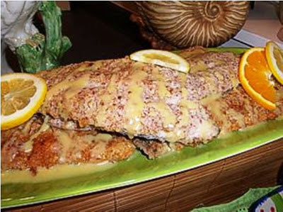 Pecan Crusted Trout with Beurre Blanc Sauce