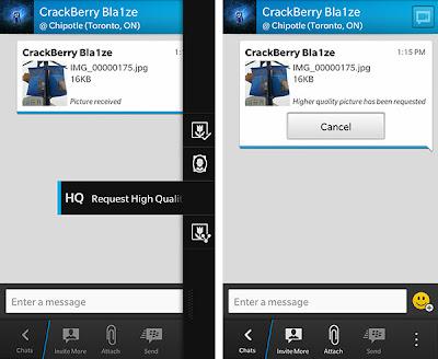 BlackBerry Messenger es una excelente manera de estar en contacto con tus amigos de manera instantánea, En esté nuevo Sistema Operativo BlackBerry Messenger trae varias cosas que al pasar el tiempo dejaremos a descubrierto, Está vez nos encontramos con que se pueden solicitar imágenes de alta calidad en BlackBerry Messenger, Los amigos de CrackBerry nos traen está pequeña guía en la cual nos muestran como podemos solicitar imágenes de alta calidad vía BBM.  Cómo solicitar imágenes de alta calidad a través de BBM en BlackBerry 10 La imagen que dice se recibió a través de BBM, Es de baja