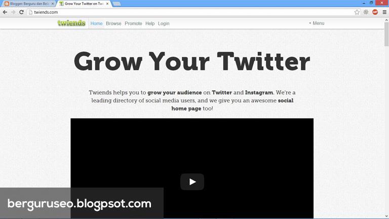 Cara Menambah Followers Twitter dengan Twiends