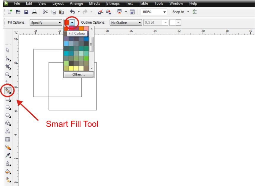 Smart Fill Tool In Corel Draw 12 : Free Programs ...