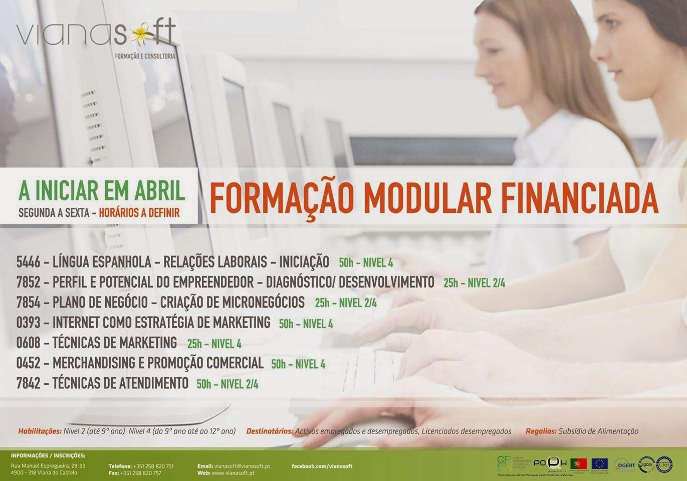 cursos gratis em Viana do Castelo