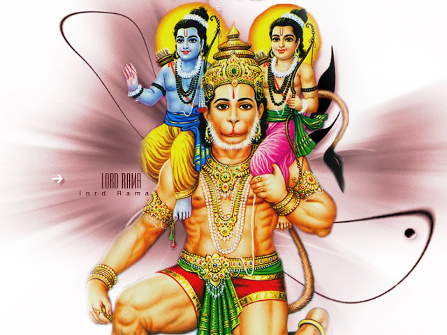 Shri Hanuman HD Wallpapers with Ram