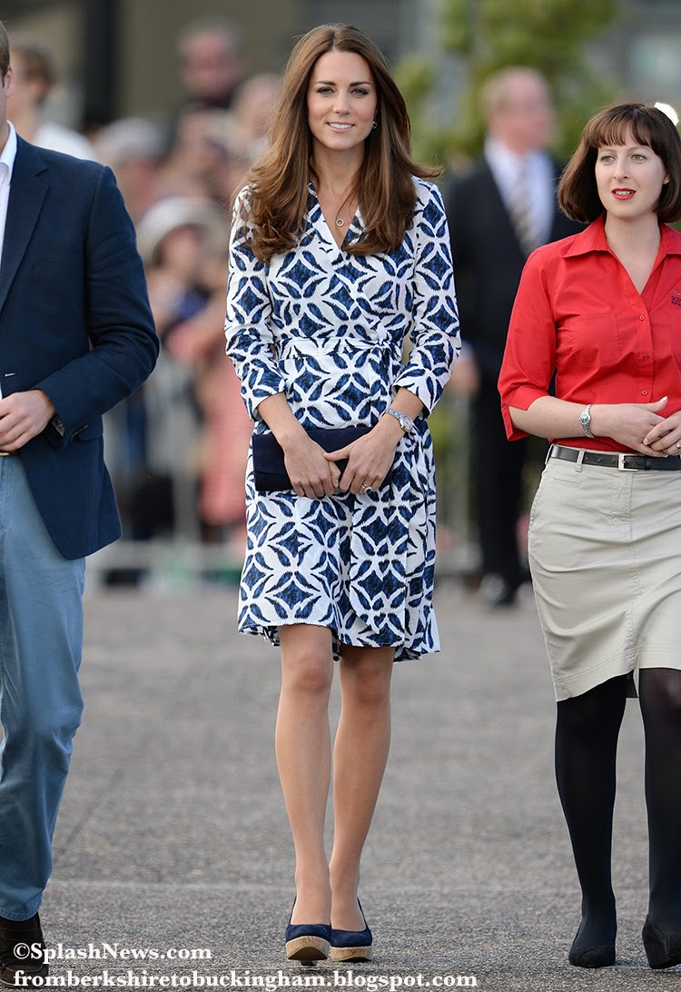 Dvf Pattern Wrap Dress Kate Middleton is not her first DVF wear