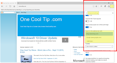 How to Change the Default Microsoft Edge Search Engine - One Cool Tip