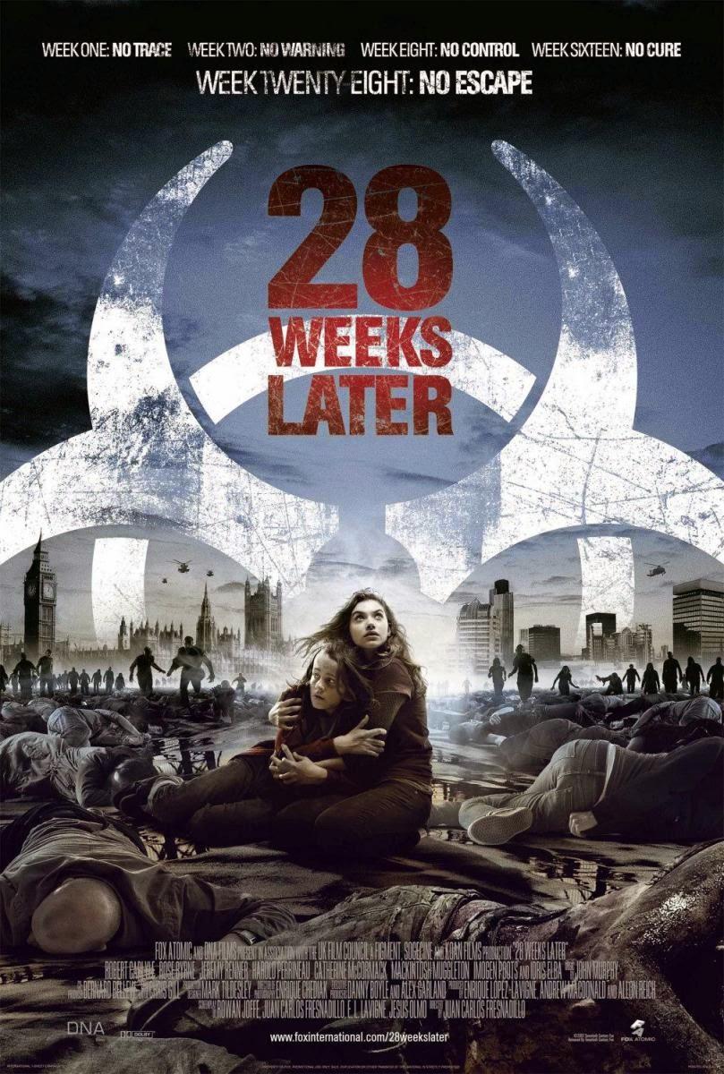 """Cartél de """"28 semanas después"""" en inglés"""