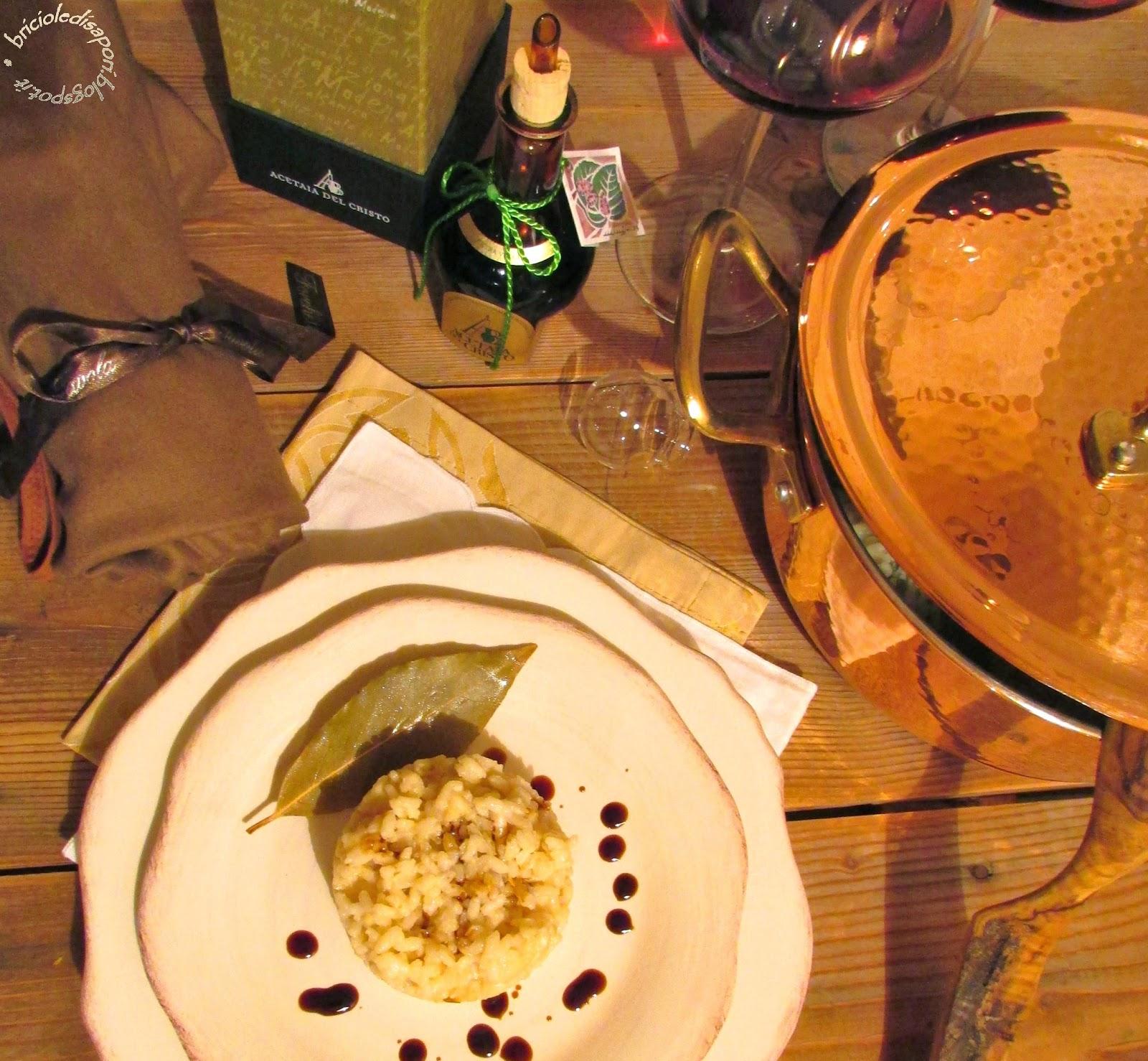 risotto al parmigiano reggiano e aceto balsamico tradizionale di modena d.o.p.