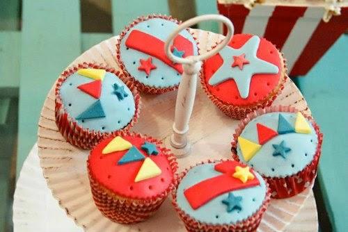 Cupcakes decoradas inspiración circo