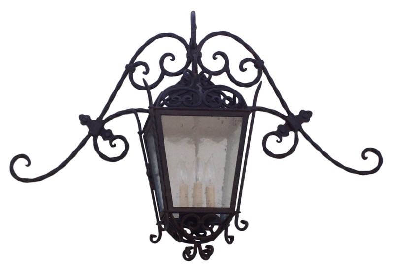 Wrought Iron Lanterns Are Very Effective Inside And Outside The House