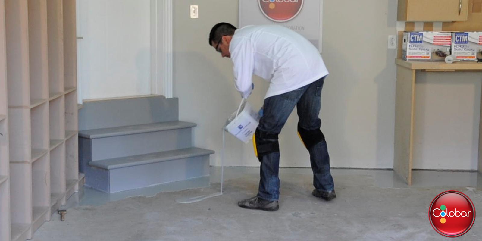 Colobar peinture et d coration comment appliquer l poxy for Peinture sur ciment exterieur