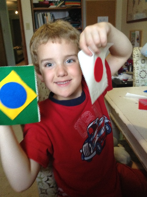 making flags with Kiwi Crate