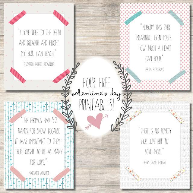 Free Valentine's Day Printables from PrintableWisdom
