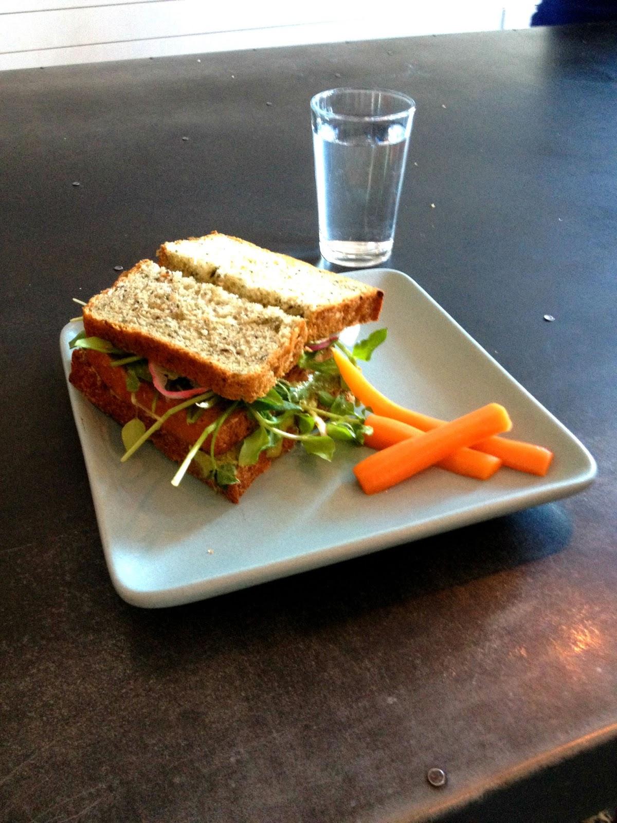 roasted tofu sandwich