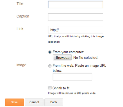 How to Add Images to Blogger Sidebar
